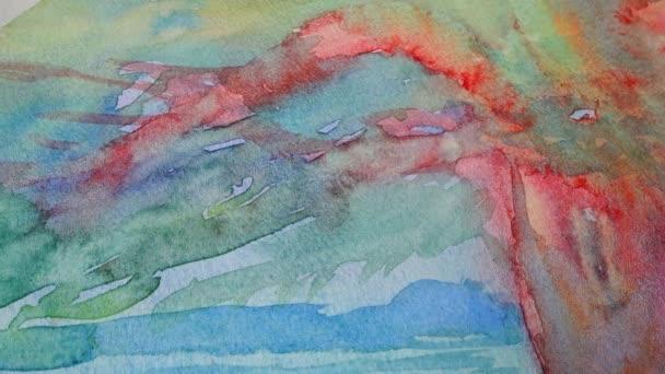 Zeichnung eines Baumaquarells. Aufnahme der Zeichnung.