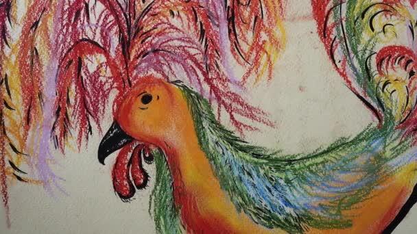 Rajz egy rooster.Shooting a rajz.