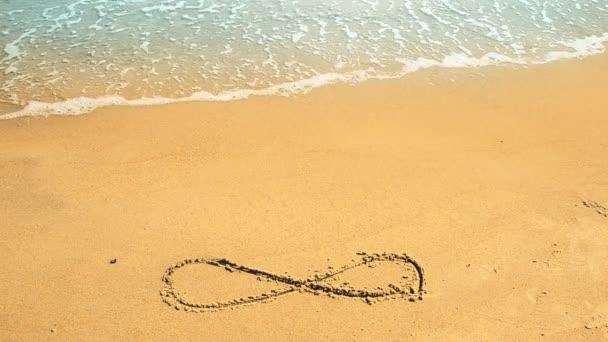 Írd alá a végtelenségig a homokon, a parton. Lövöldözés a parton.