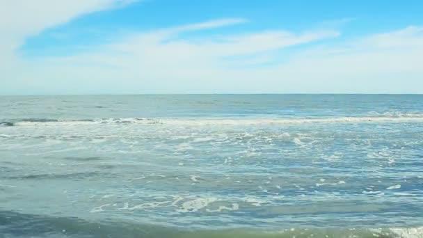 Mořská krajina. Fotografování na pláži.