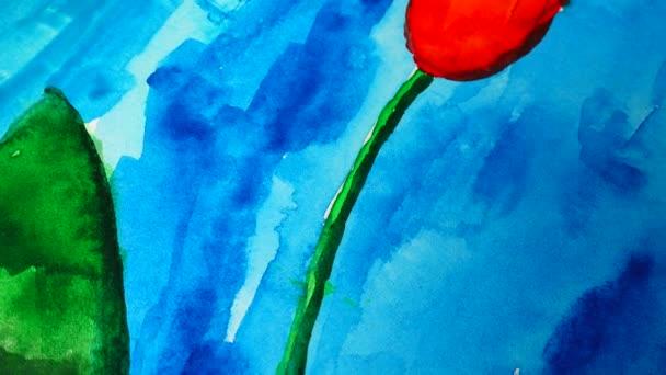 Lövöldözés a rajz tulipán.
