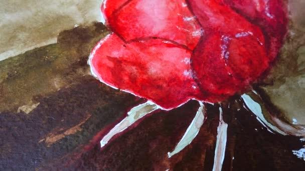 A rajz forgatása rózsa.