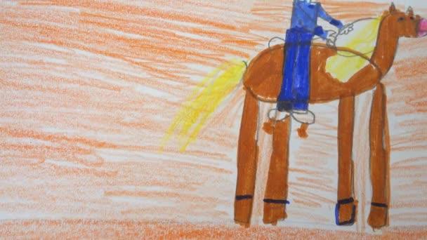 A cowboy rajza egy lovon.