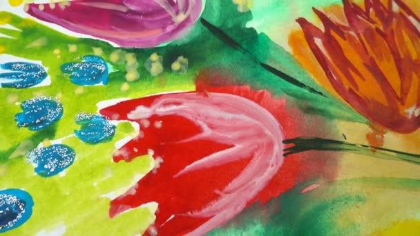 Virágrajzok. A rajz forgatása.