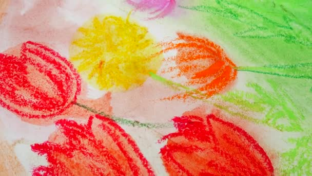 Rajzoló virág. A rajz forgatása.