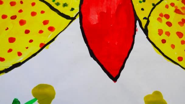 Pillangók rajzolása. A rajz forgatása.