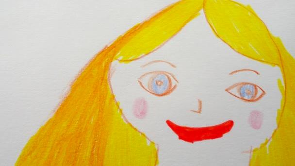 A lány portréjának fotózása.