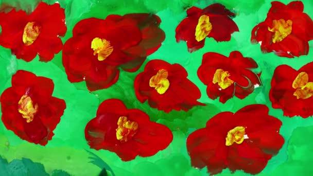 Rajzolj virágot a réten. Időeltolódás.