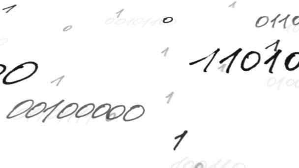 Bináris kód, animáció. Animáció bináris kódra.