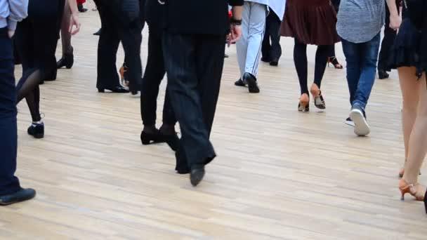 Training on ballroom dances. People and dances.