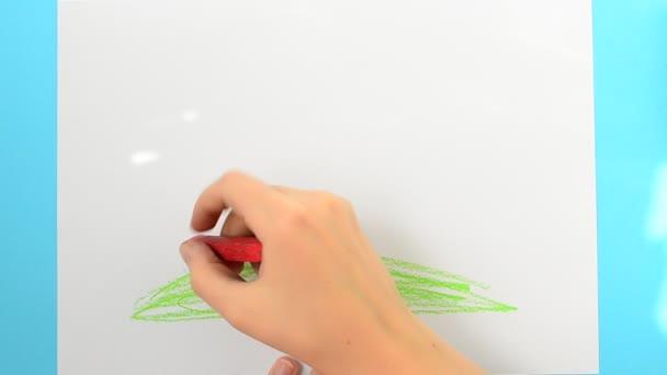 Rajzolj házakat. A gyerek rajzolja a képet..