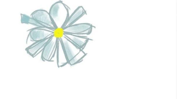 Digitális rajz egy virágról, Timelapse. Rajzolási folyamat.