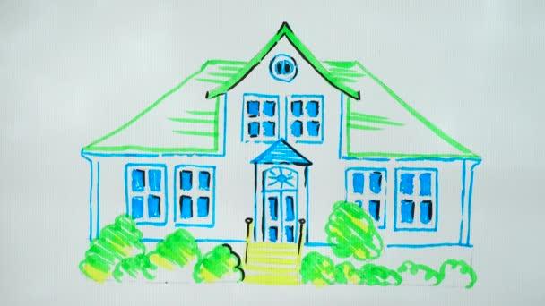 Nakreslit stromy v blízkosti domu.