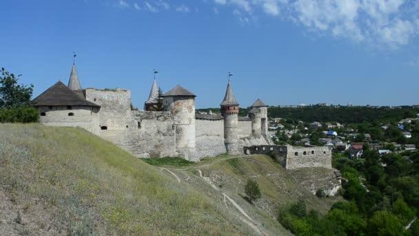 Ukrajinská pevnost, starobylá. Pevnost Kamenetz-Podolsk, Ukrajina.