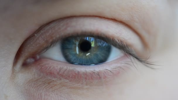 Different view. Shooting of the person and eye