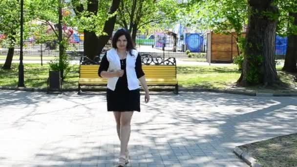Attractive young girl. Shooting in the spring