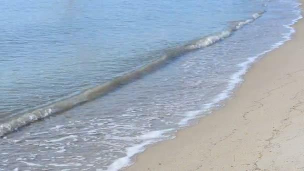 Mořská krajina. Vlna na pláži