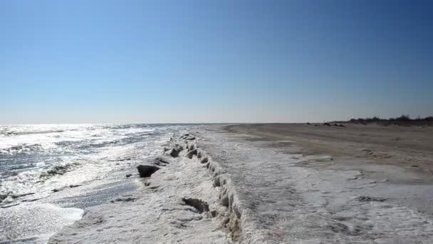 Homokos táj. Jég és tenger