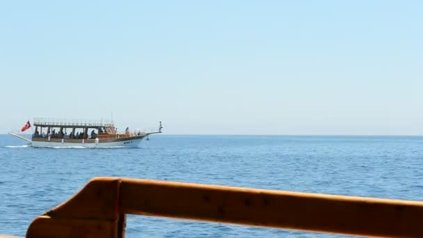 a hajó a tengerben
