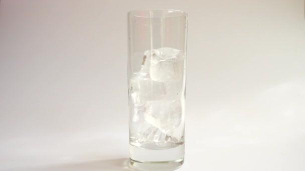 Zubereitung kohlensäurehaltiger Getränke mit Eis, Zitrone und Orange.