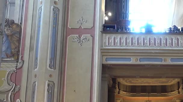 Shooting of the Catholic Cathedral. Lviv, Ukraine.