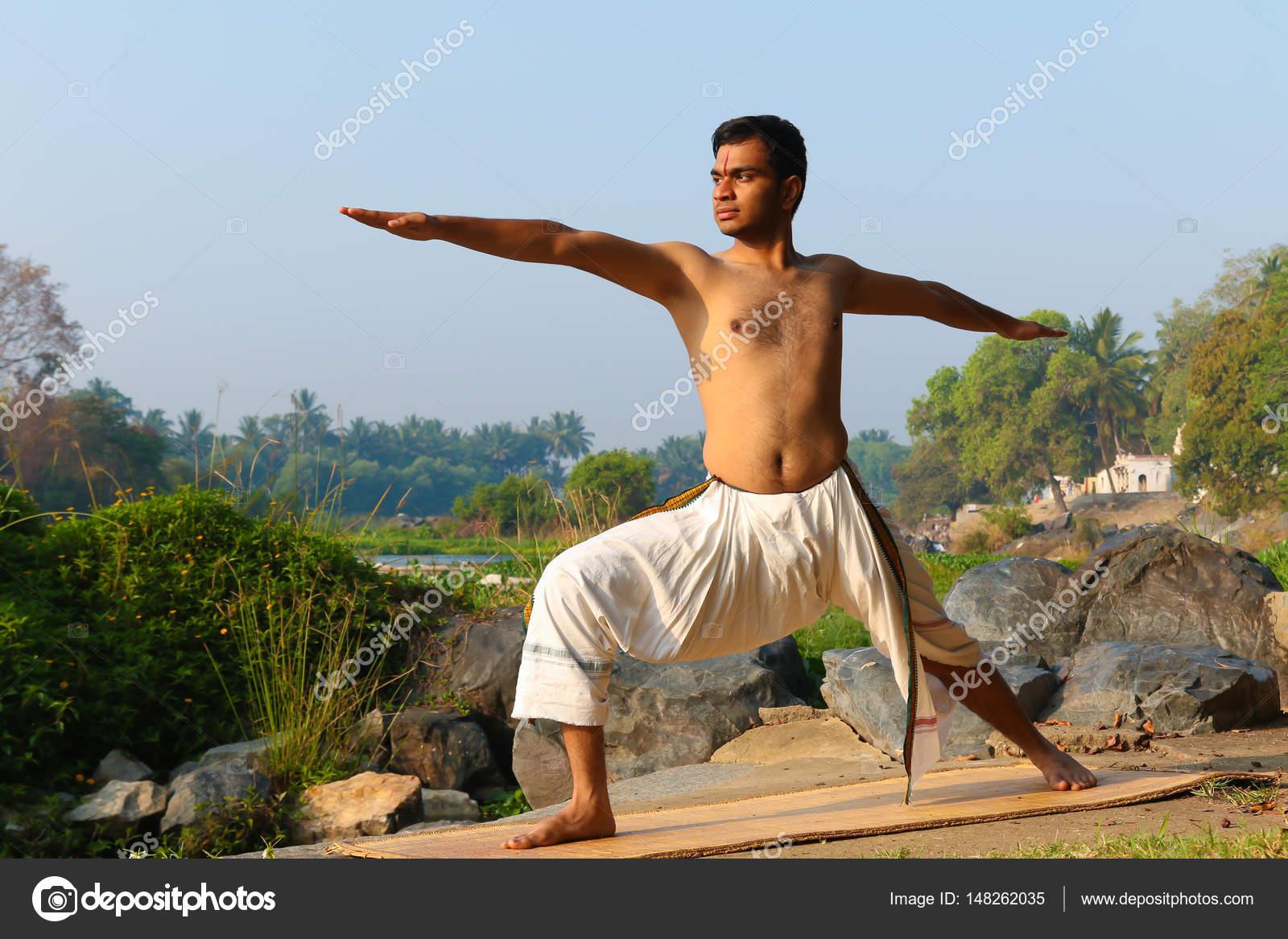 Indian Yogi Doing Yoga Stock Photo C Nilanewsom 148262035