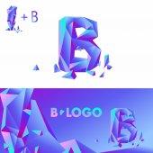 Fotografie diamond letter logo B