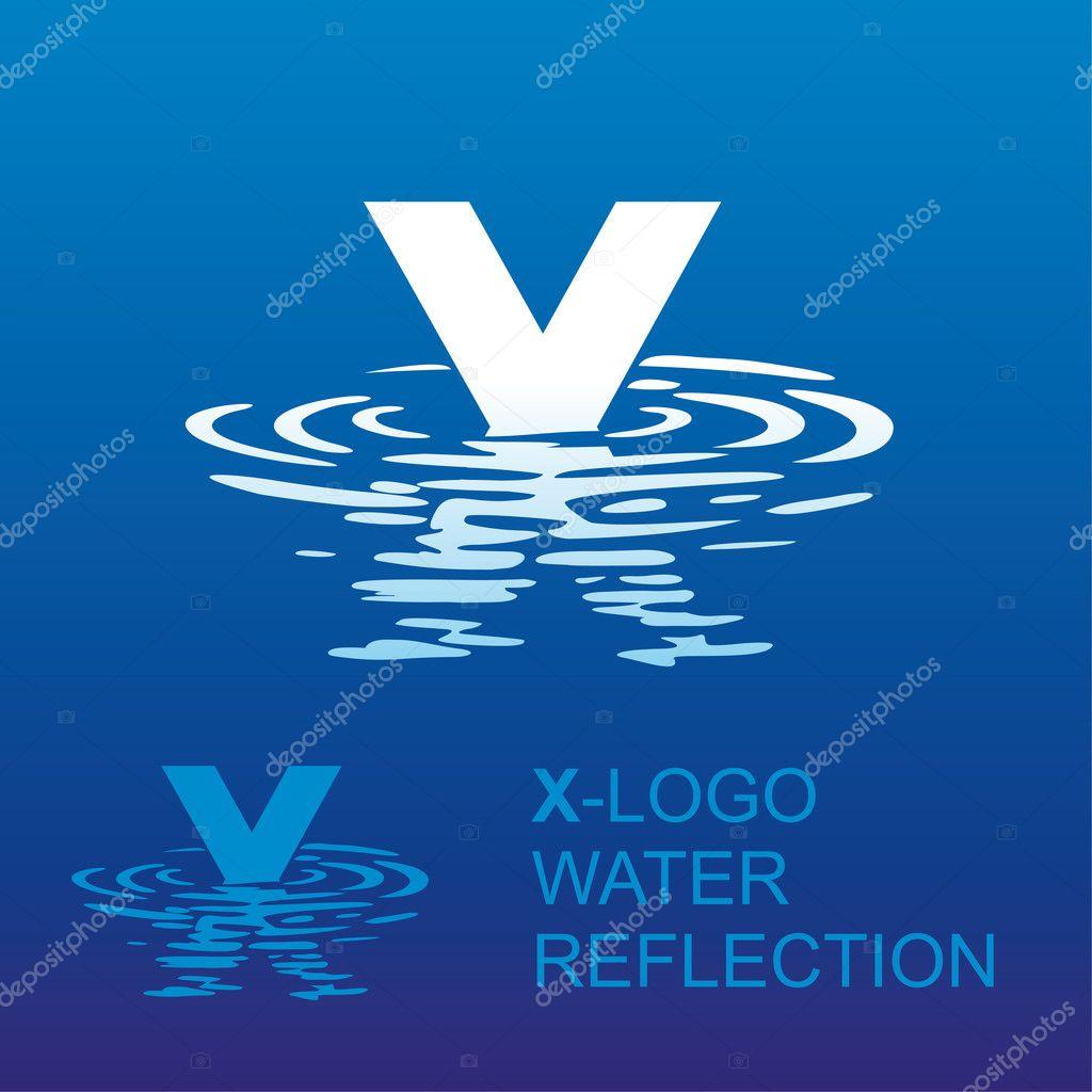 mirror letter logo X