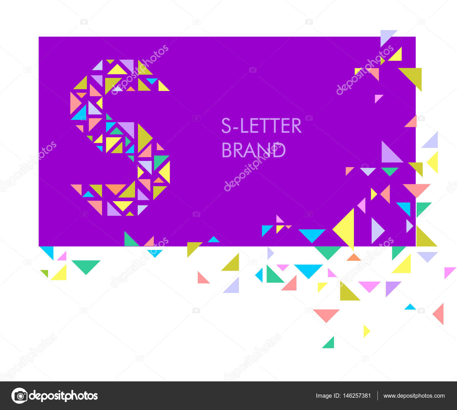 s triangle letter logo creative logo for the corporate identity of