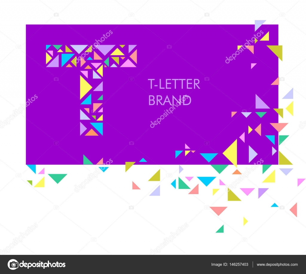 t triangle letter logo creative logo for the corporate identity of