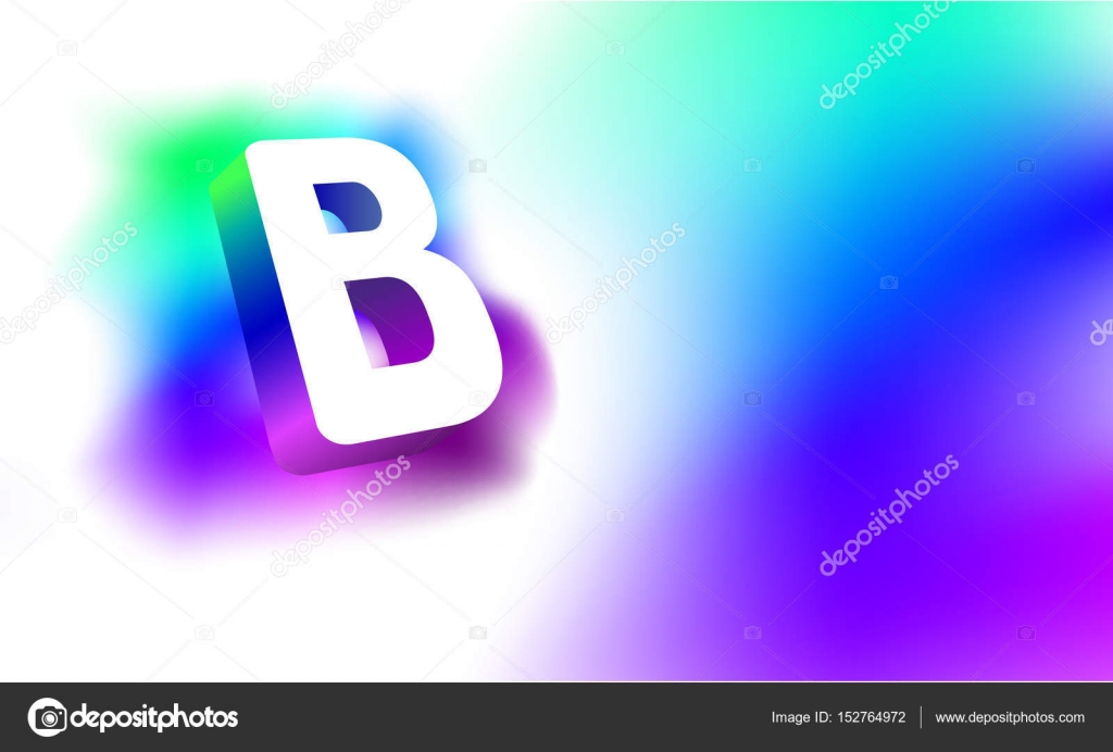 Letter B Template | Glowing Letters B Abstract Letter B Template Of Creative Glow 3d
