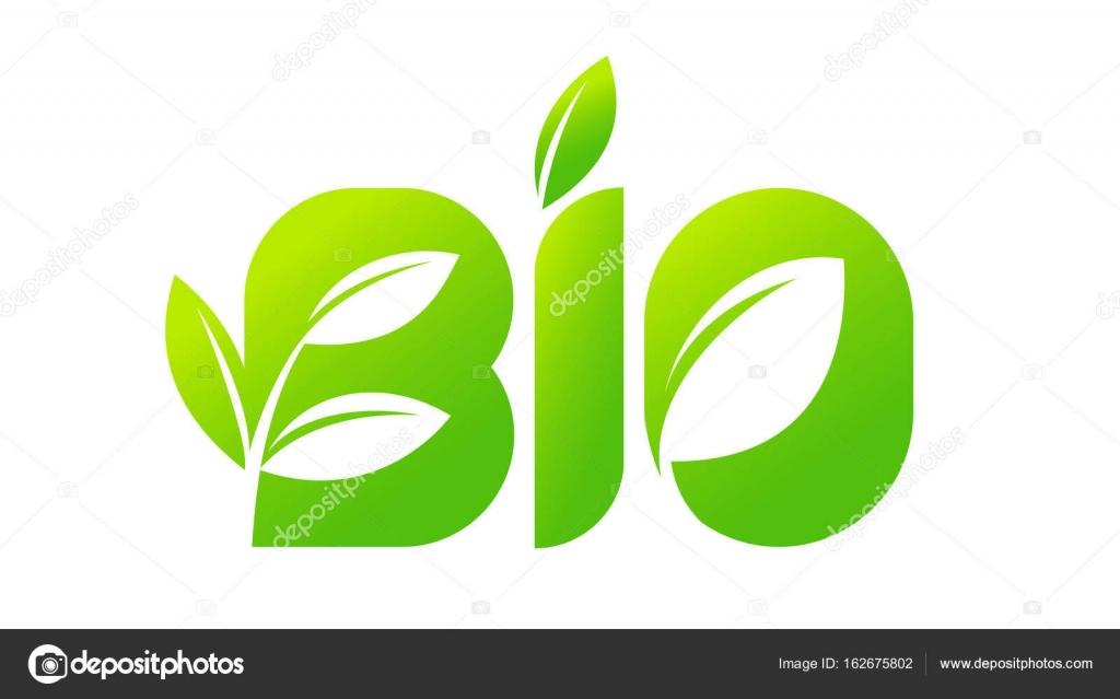 embl232me du bio bio naturel logo vert avec une feuille d