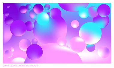 Background multicolored abstract vector gradient 3d background with luminous balls for  poster, billboard, advertisement, cover, wallpaper, presentation, packaging. Vector illustration of modern art.