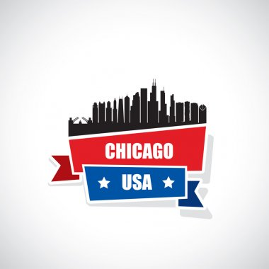 Chicago city ribbon banner
