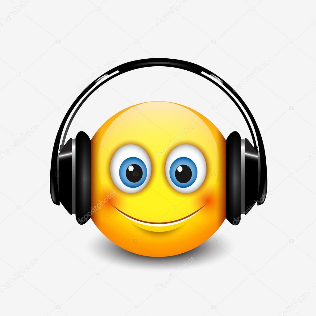 smiley met koptelefoon pictogram stockvector  u00a9 i elk clip art borders elk clip art black and white