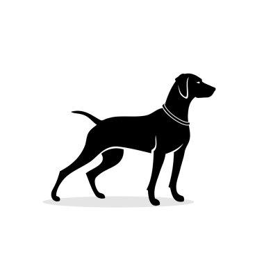 Vizsla dog - vector illustration clip art vector
