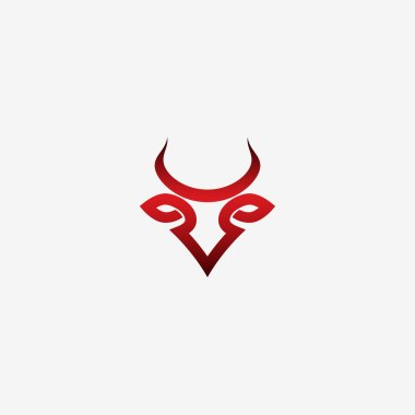 Bull red symbol