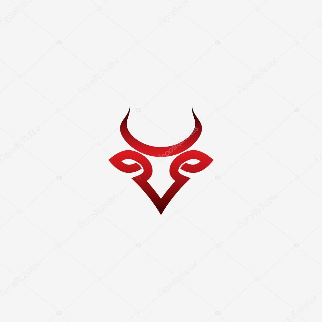 bull red symbol stock vector i petrovic 126793324
