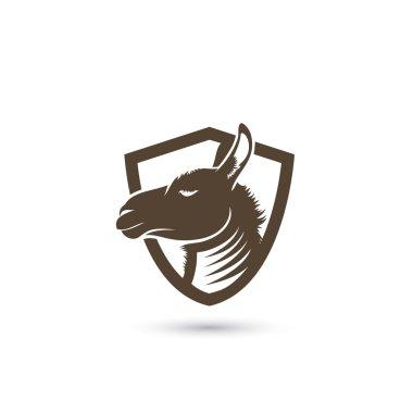 Lama symbol, alpaca  illustration