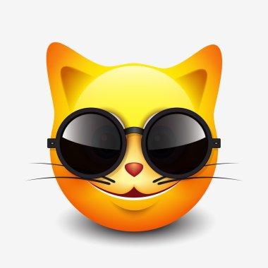 Cute cat emoticon