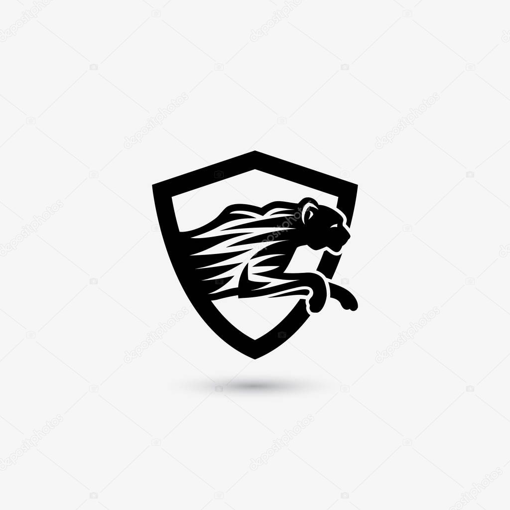 ᐈ cheetah stock icon royalty free cheetah logo cliparts download on depositphotos https depositphotos com 129682982 stock illustration cheetah simple shield icon html