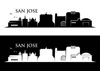 San Jose skyline silhouette