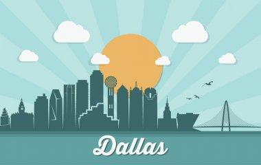 Dallas skyline silhouette