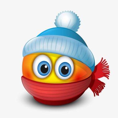 Cute winter emoticon