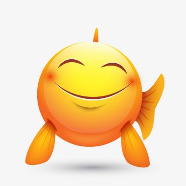 Cute smiley fish sign