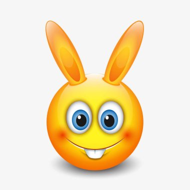 Cute smiley rabbit sign