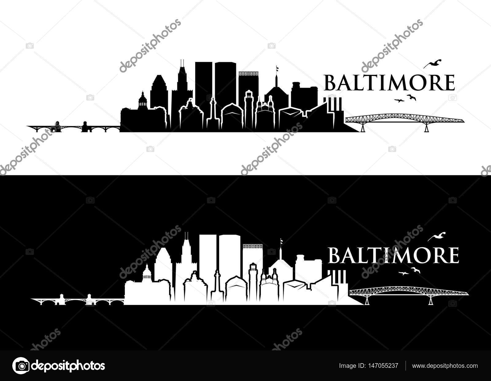 Victor Graphics Inc Baltimore Maryland Area - Baltimore skyline maryland vector illustration vector by i petrovic