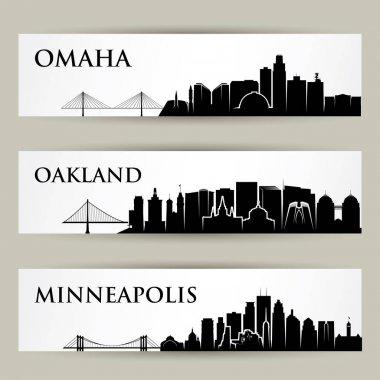 Omaha, Oakland, Minneapolis cities skylines