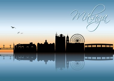 Design of Malaga skyline