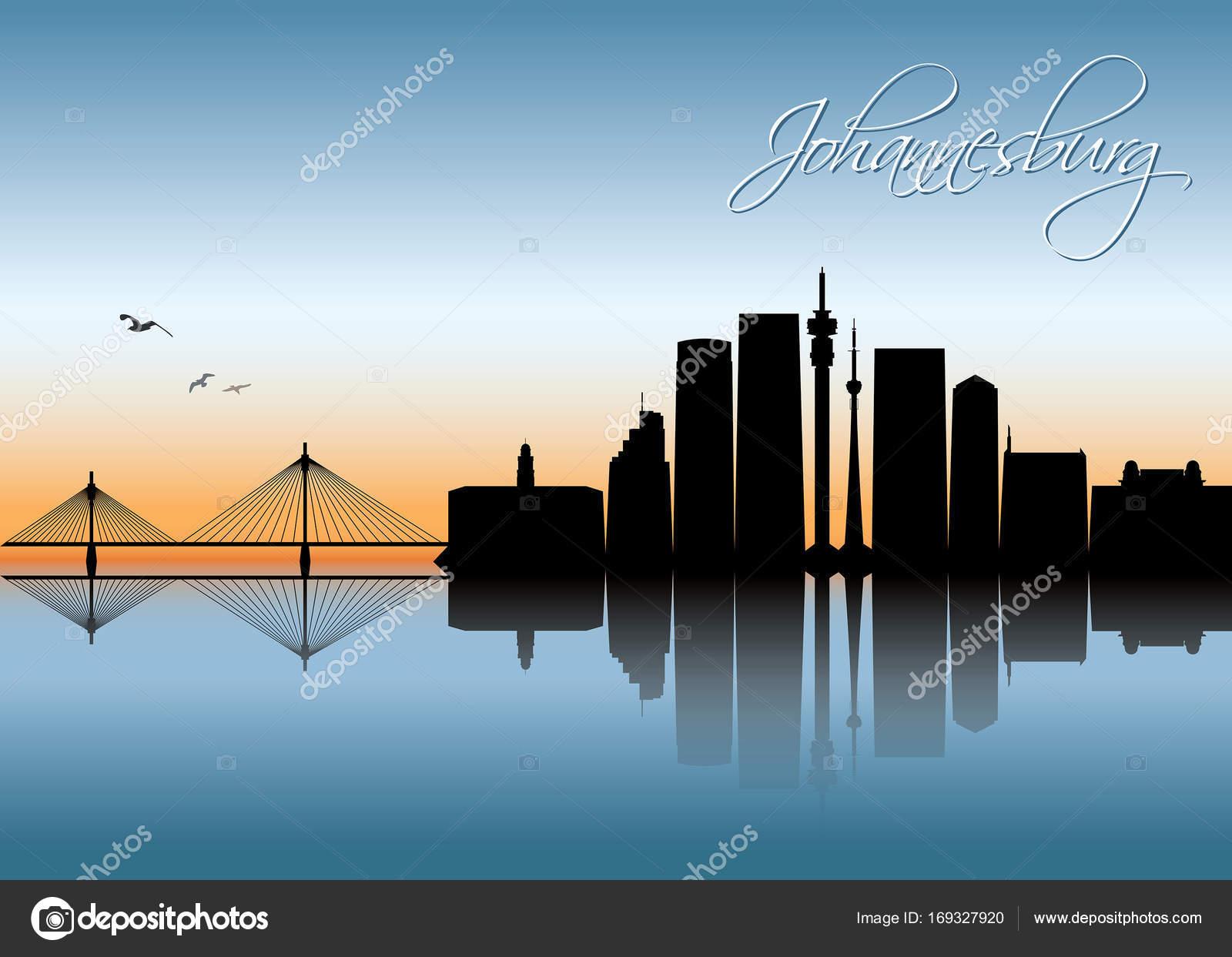 Johannesburg skyline banner stock vector itrovic 169327920 johannesburg skyline banner stock vector altavistaventures Images